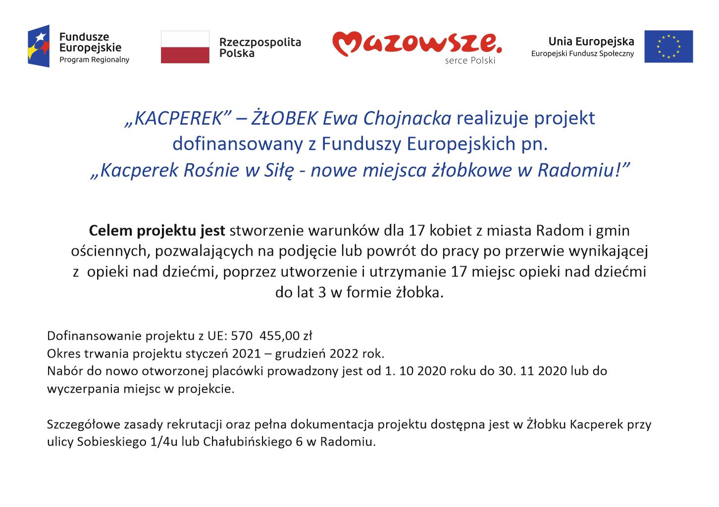 Projekt z Funduszy Europejskich
